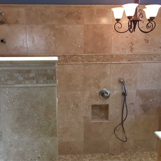 remodeled shower