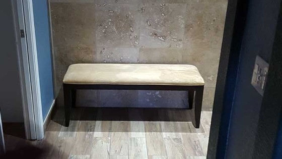 elegant bathroom bench