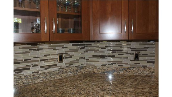 remodeled kitchen backsplash