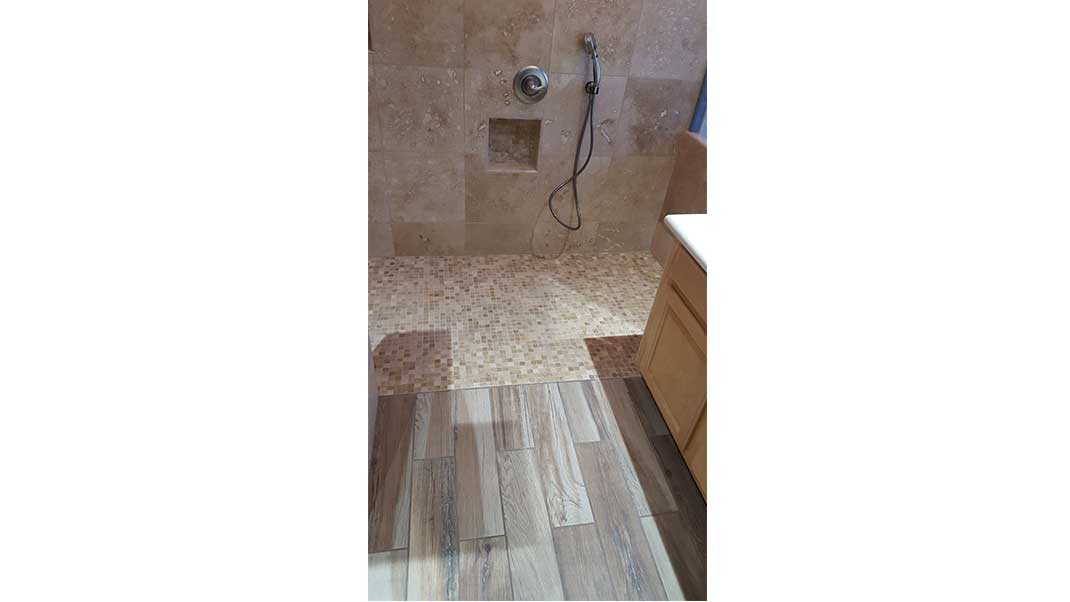 sammans master bath remodel floor and shower